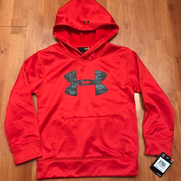 6a9b39051 Under Armour Shirts & Tops | Boys Size 6 Red Hoodie | Poshmark